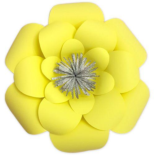 Açık Sarı Kağıt Çiçek 1 Adet (30 cm), fiyatı