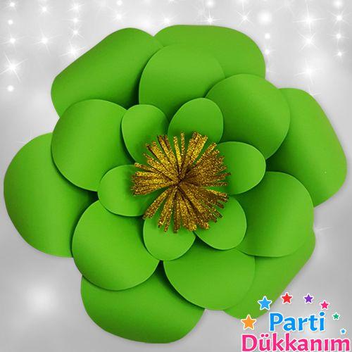 Açık Yeşil Kağıt Çiçek 1 Adet (30 cm), fiyatı