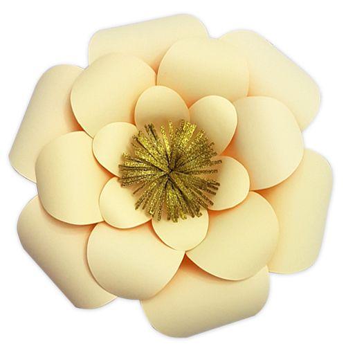 Gold Kağıt Çiçek 1 Adet (30 cm), fiyatı