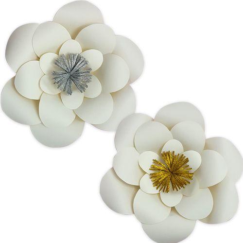 Beyaz Kağıt Çiçek 1 Adet (30 cm), fiyatı