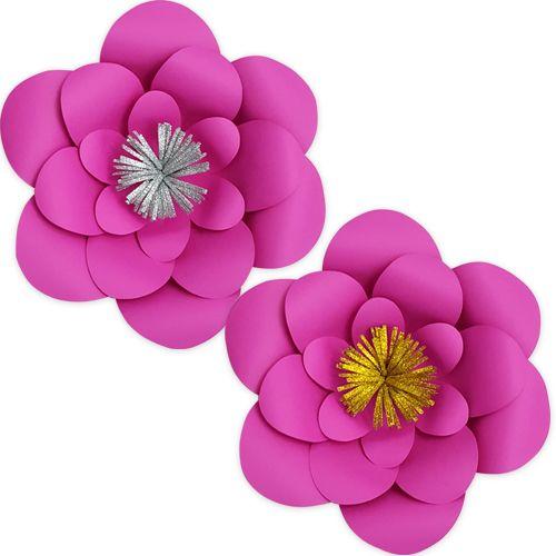 Fuşya Kağıt Çiçek 1 Adet (30 cm)