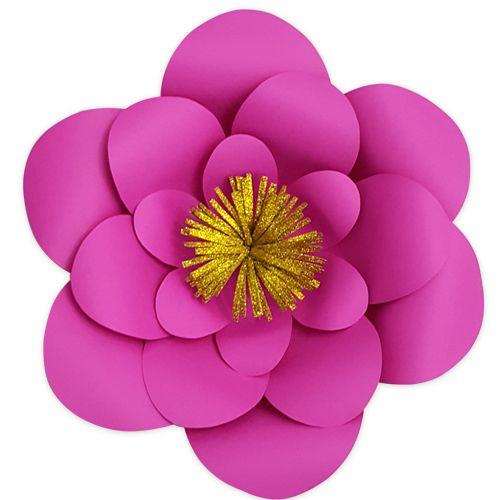 Fuşya Kağıt Çiçek 1 Adet (30 cm), fiyatı