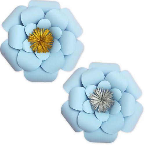 Gök Mavisi Kağıt Çiçek 1 Adet (30 cm), fiyatı