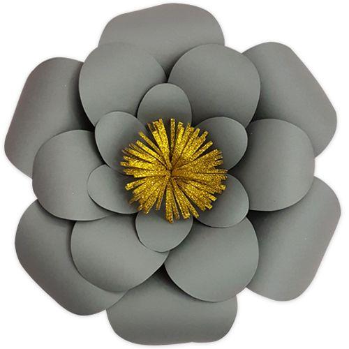 Gri Renk Kağıt Çiçek 1 Adet (30 cm), fiyatı
