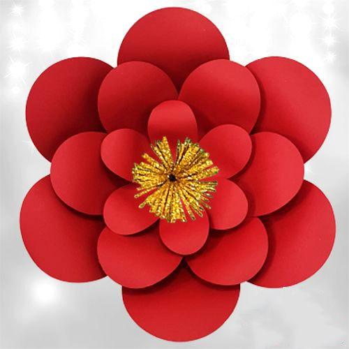 Kırmızı Kağıt Çiçek 1 Adet (30 cm), fiyatı