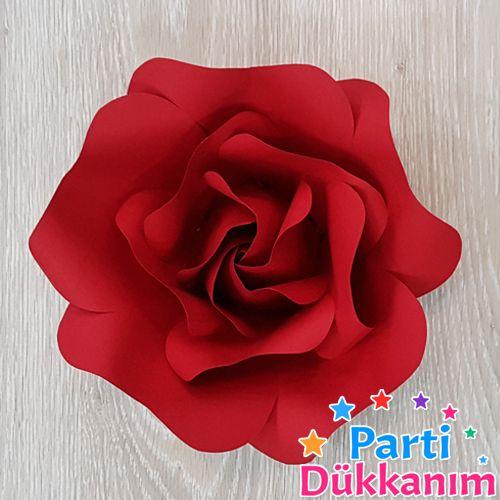Kırmızı Kağıt Gül Çiçek Goncalı 1 Adet (30 cm), fiyatı