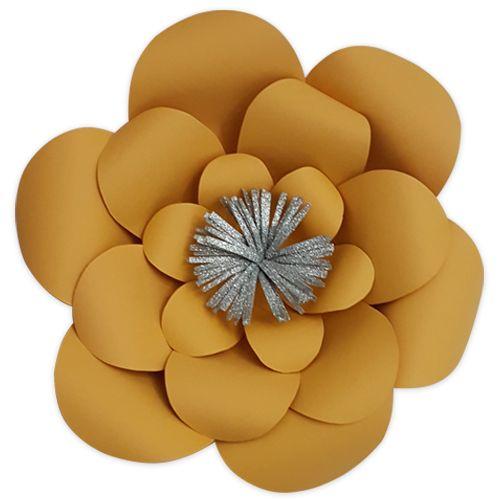 Mat Turuncu Kağıt Çiçek 1 Adet (30 cm), fiyatı