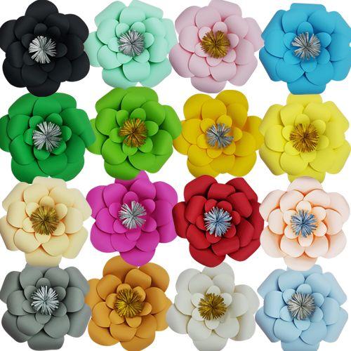 Renkli Kağıt Çiçekler 1 Adet (30 cm)