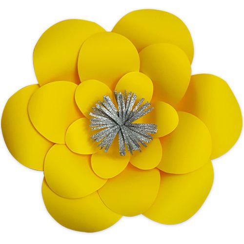 Sarı Kağıt Çiçek 1 Adet (30 cm), fiyatı