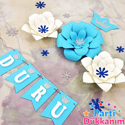Frozen Dekor Kağıt Çiçek Seti