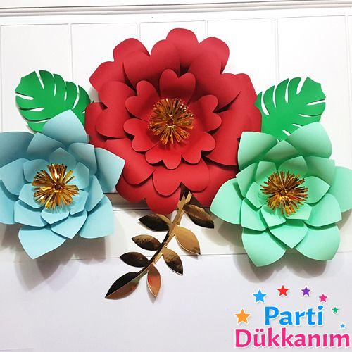 Tropikal Kağıt Çiçek Seti, fiyatı