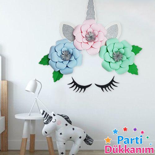 Unicorn Kağıt Çiçek Seti, fiyatı