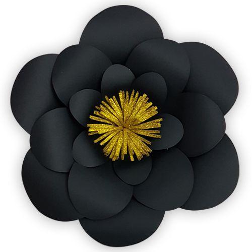 Siyah Kağıt Çiçek 1 Adet (30 cm), fiyatı