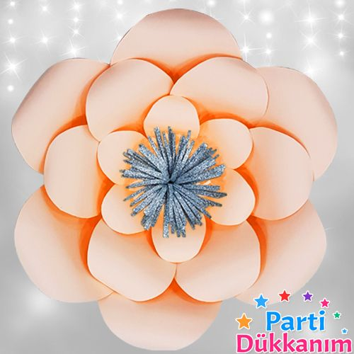 Somon Rengi Kağıt Çiçek 1 Adet (30 cm), fiyatı