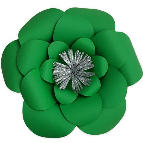 Yeşil Kağıt Çiçek 1 Adet (30 cm), fiyatı