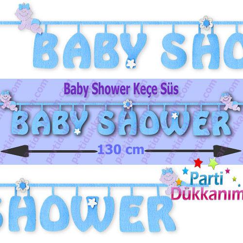 Baby Shower Keçe Süs Mavi (96 cm), fiyatı
