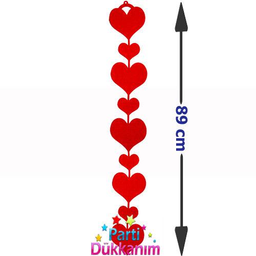 Kalp Asmalı Keçe Süs (89 cm), fiyatı