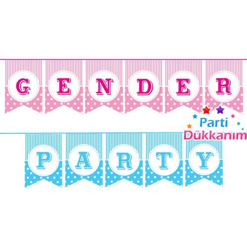 Gender Party Bayrak Set, fiyatı