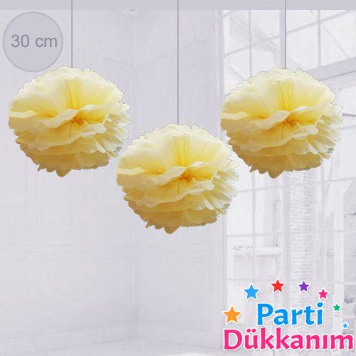 Limon Sarısı PonPon Süs 1 Adet