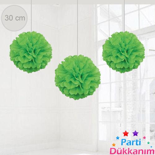 Yeşil PonPon Süs (30 cm)