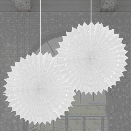 Beyaz Yelpaze Süs 2 Adet (50 cm), fiyatı
