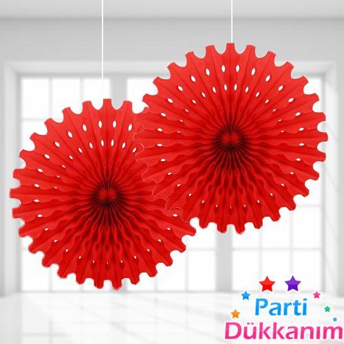 Kırmızı Yelpaze Süs (50 cm), fiyatı