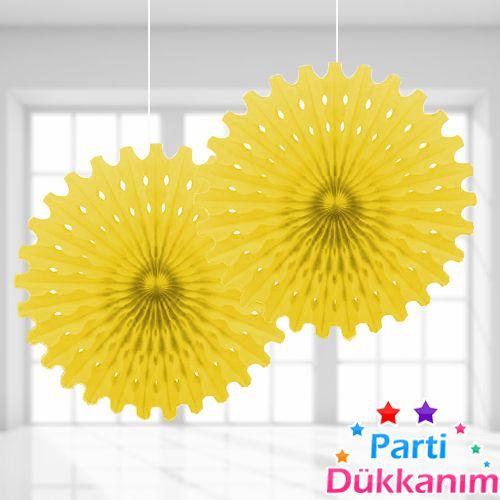 Sarı Yelpaze Süs (50 cm)