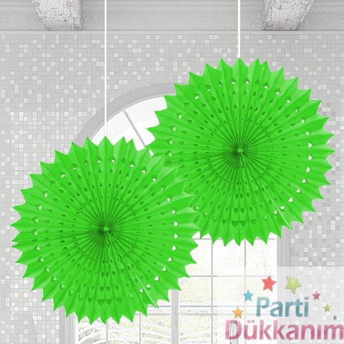 Yeşil Yelpaze Süs (50 cm)