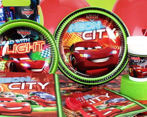 Cars Neon Parti Malzemeleri