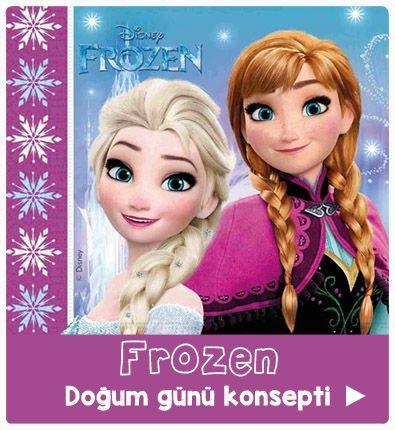Frozen elsa anna parti süsleme seti