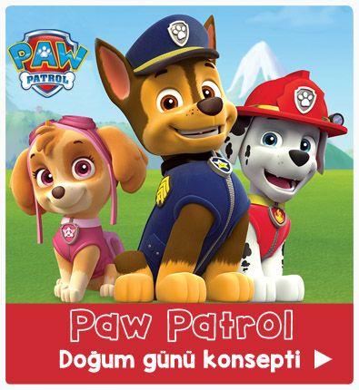paw patrol parti malzemeleri