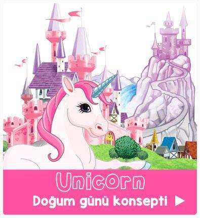 unicorn partisi - doğum günü süsleri