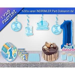 1 Yaş Doğum Günü Mavi