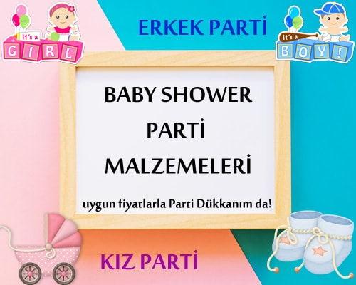 Baby Shower Parti Malzemeleri