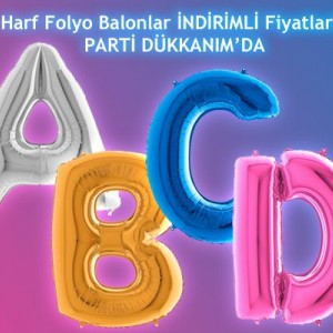 Harf Folyo Balon 100 cm
