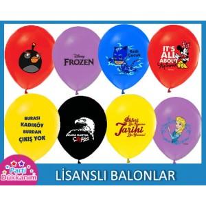 Lisanslı Balonlar (Baskılı)