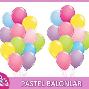 Pastel Renkli Balonlar