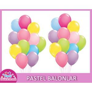 Pastel Balonlar Renkli (standart)