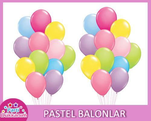 Pastel Renkli Balonlar (standart)