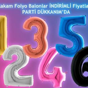 Rakam Folyo Balon 100 cm