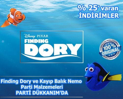 Finding Dory ve Kayıp Balık Nemo Parti Malzemeleri