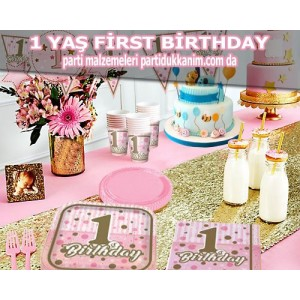First Birthday Pembe