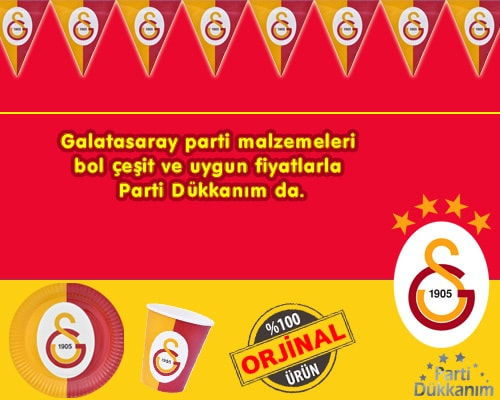 Galatasaray Parti Malzemeleri