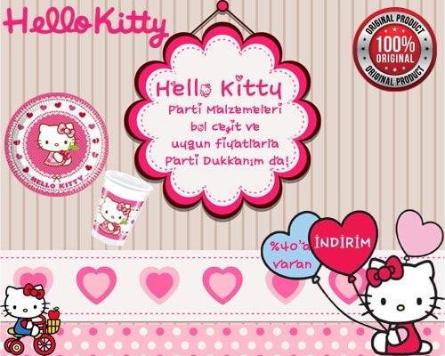Hello Kitty Parti Malzemeleri