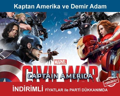 Kaptan Amerika ve Demir Adam Parti Malzemeleri