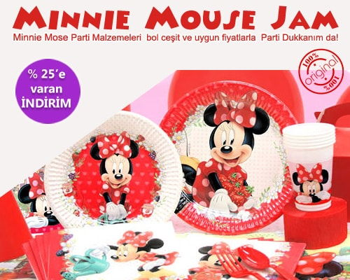 Minnie Mouse JAM Parti Malzemeleri