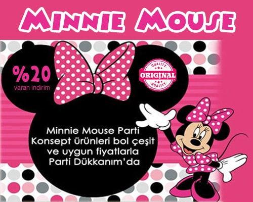 Minnie Mouse Parti Malzemeleri