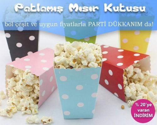 Popcorn – Patlamış Mısır Kutusu