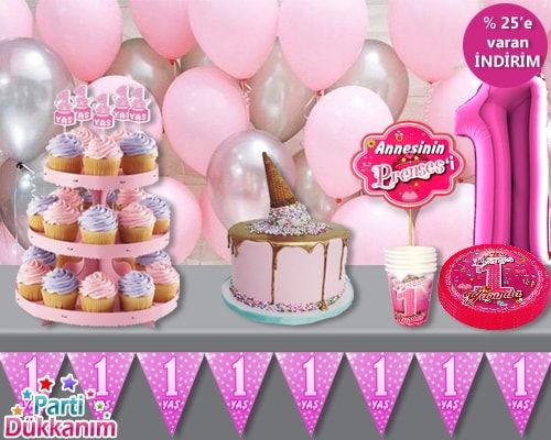 1 Yaş Doğum Günü Konsepti (Kız)