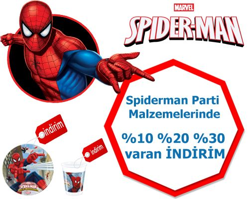 Spiderman Parti Malzemeleri